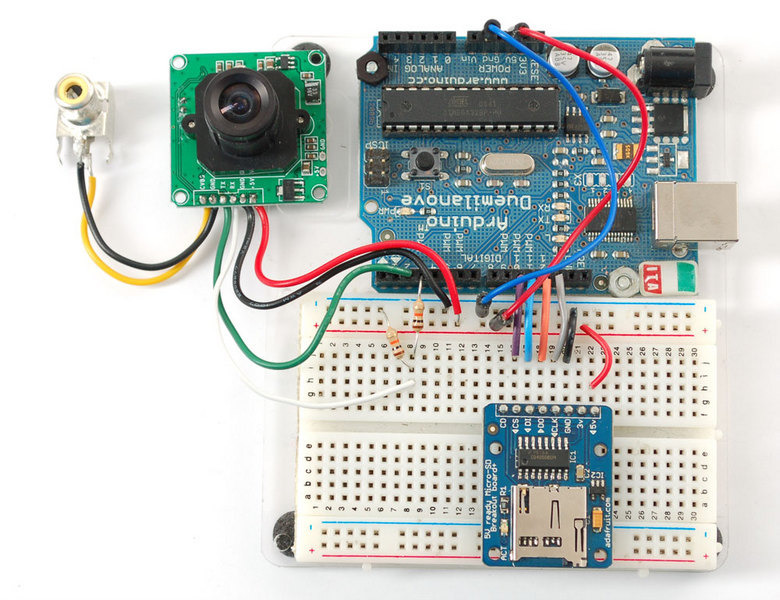 Arduino usage ttl serial camera adafruit learning system