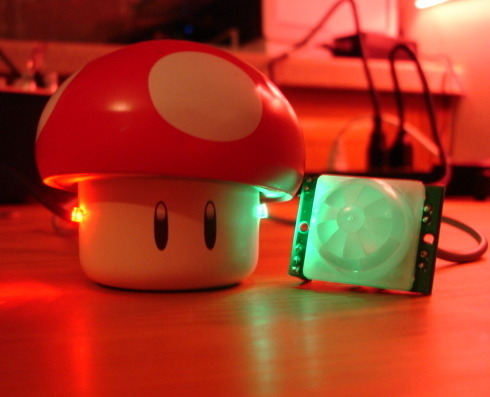 Usb powered singing and blinking mario mushroom there s a video on