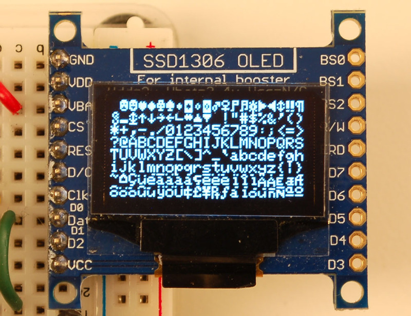 Arduino Library & Examples | Monochrome OLED Breakouts | Adafruit
