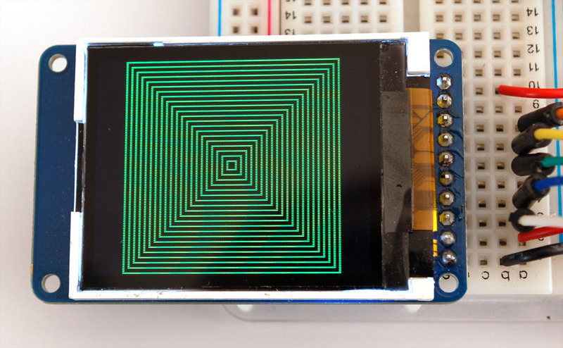 Graphics library quot tft display breakout and shield
