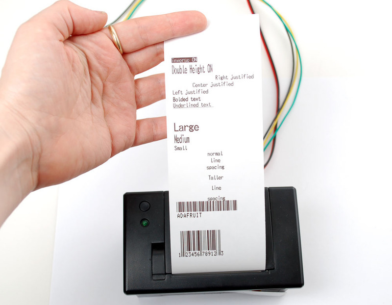 Printing Text | Mini Thermal Receipt Printer | Adafruit Learning System