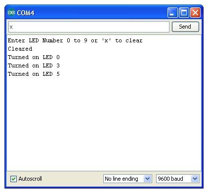 Sending Data Serially To Arduino code, circuits