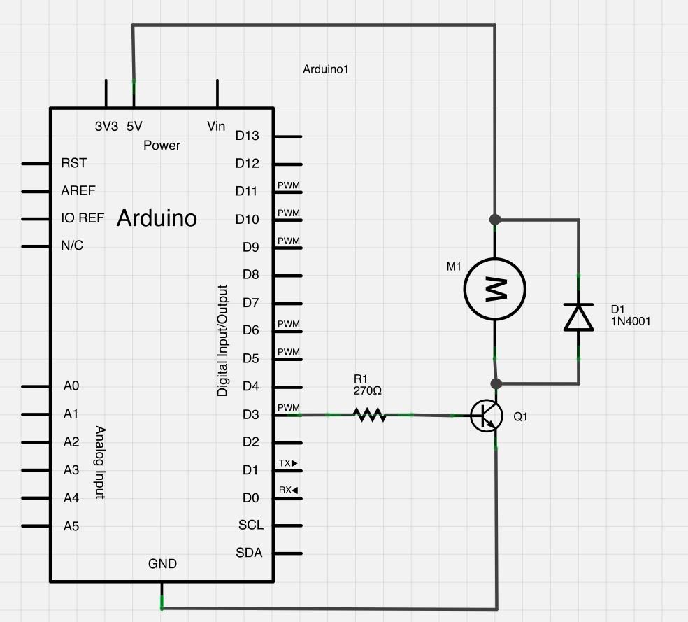 Circuito Arduino : Circuito controllo motore