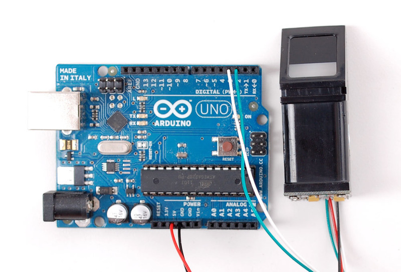 Wiring for use with Arduino | Adafruit Optical Fingerprint Sensor ...