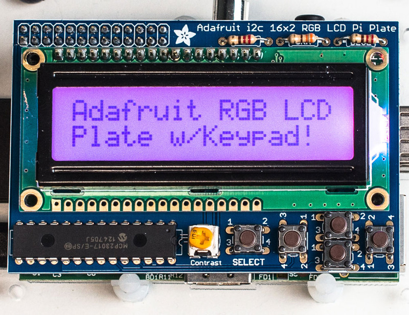 Overview | Adafruit 16x2 Character LCD + Keypad for Raspberry Pi