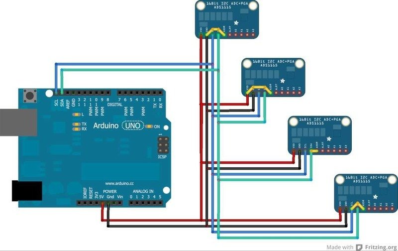 Wiring multiple ADS1115