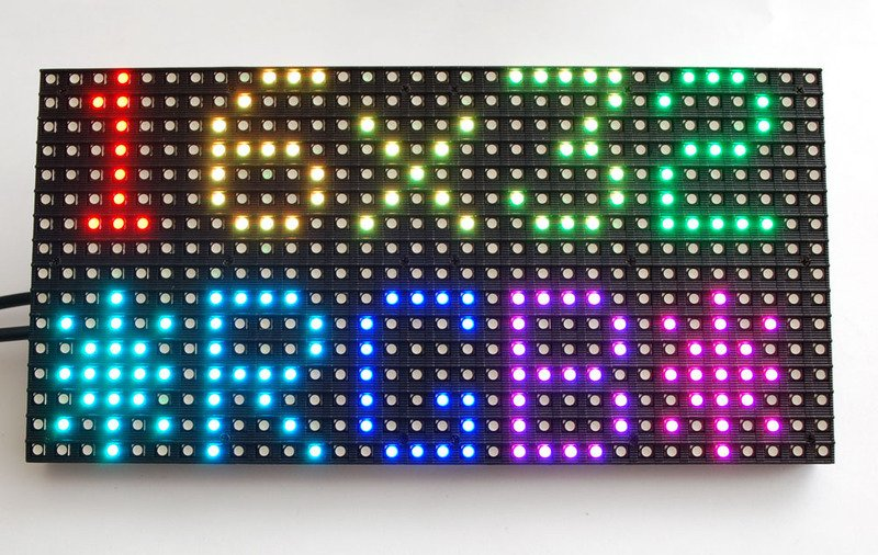 Overview 32x16 And 32x32 Rgb Led Matrix Adafruit Learning System