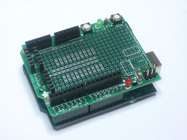 Solder it adafruit proto shield for arduino
