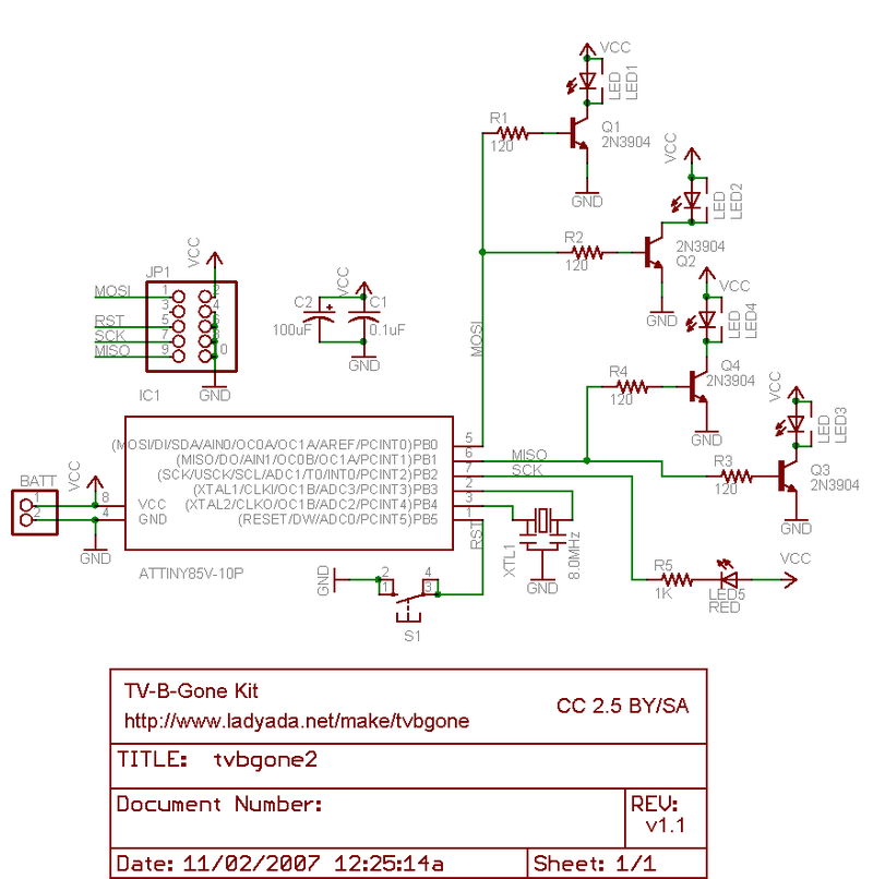 download tv b gone kit adafruit learning system Plasma TV Block Diagram projects_tvbgone11 png