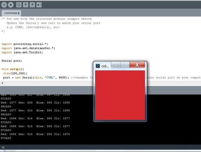 Use it with Processing! | Adafruit Color Sensors | Adafruit Learning
