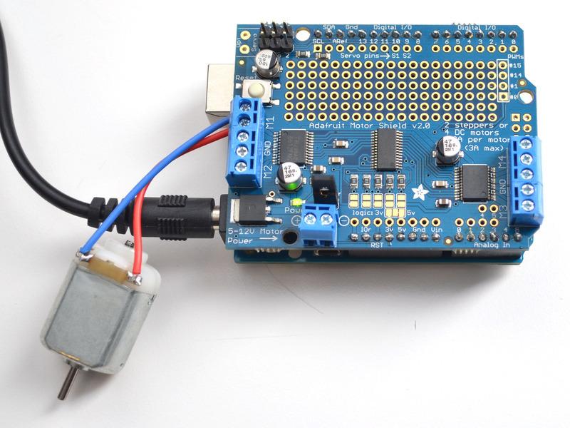 Using Dc Motors Adafruit Motor Shield V2 For Arduino