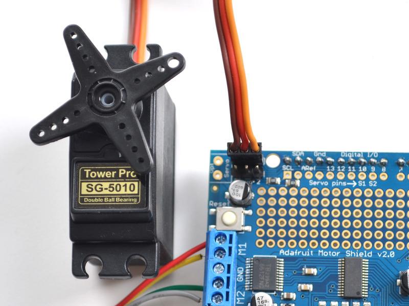 Using Rc Servos Adafruit Motor Shield V2 For Arduino