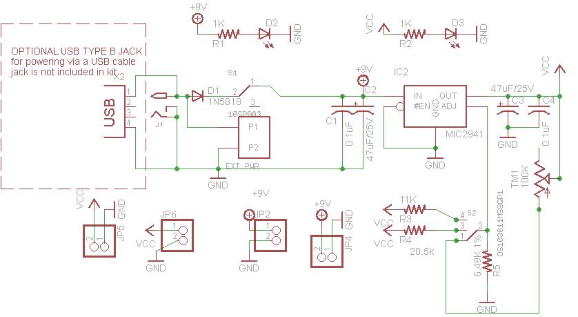 downloads adjustable breadboard power supply kit adafruitschematic \u0026 board files in eaglecad format; schematic in png