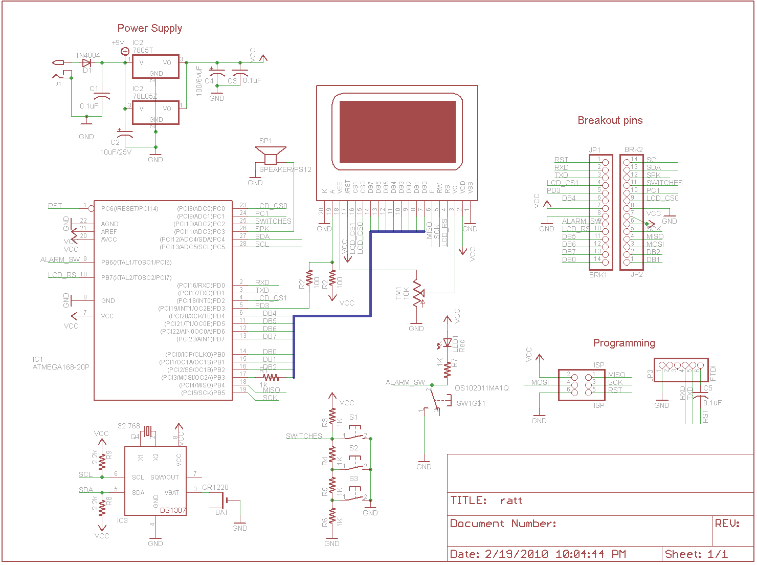 Design Monochron Adafruit Learning System Here Is The Circuit Schematic Click On Picture To Get A Full For