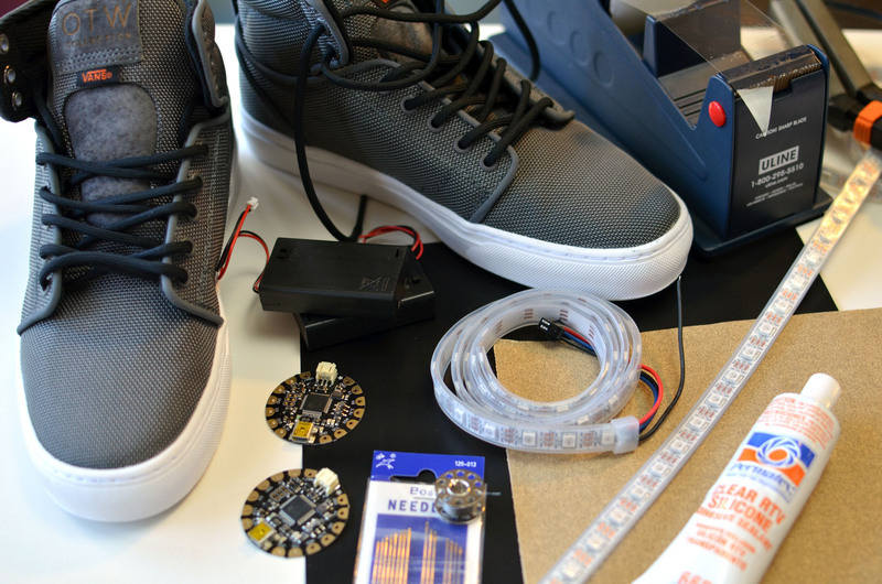 how to make led shoes with pressure
