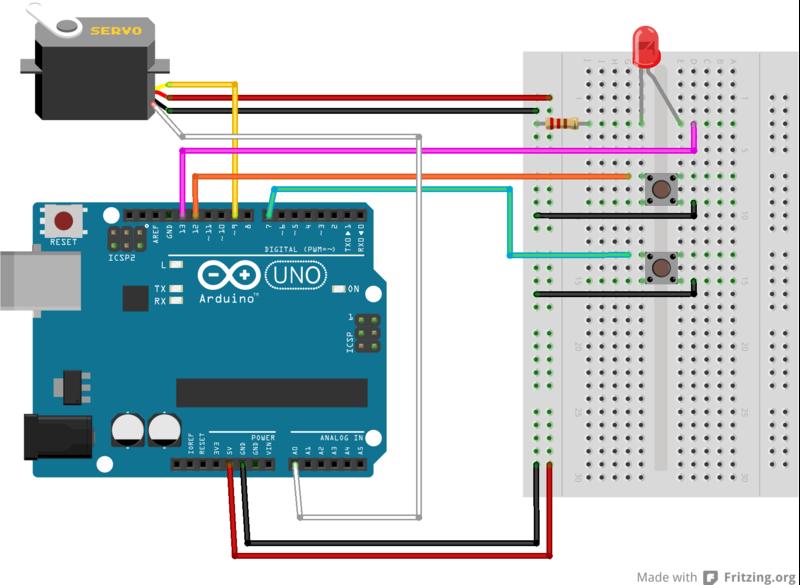 Arduino servo wiring diagram motor