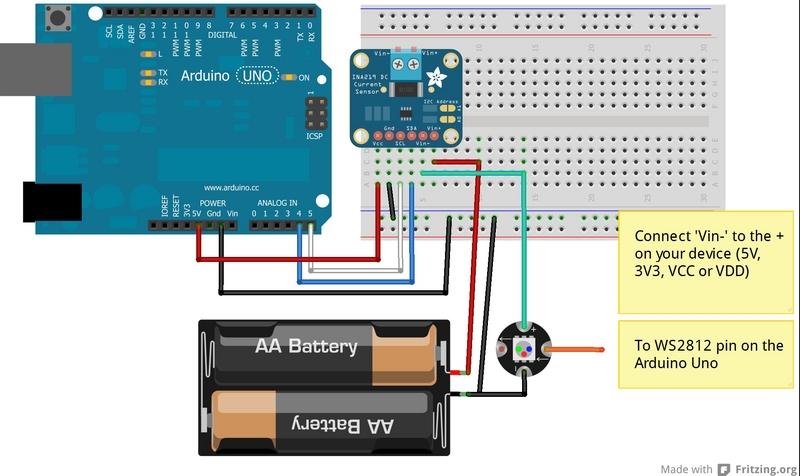 Wiring Adafruit Ina219 Current Sensor Breakout