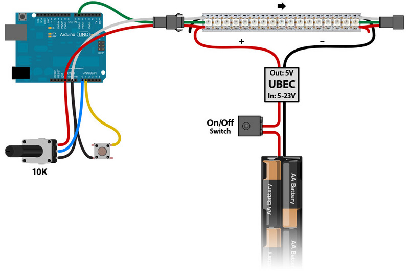 led_strips_Wiring Diagram?1386118581 plan wiring neopixel painter adafruit learning system RGB LED Cube 8X8x8 at gsmx.co