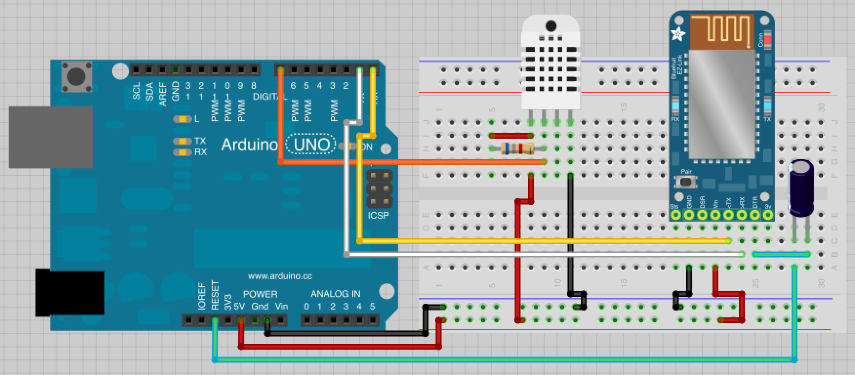 How to connect Temperature and Humidity sensor to Arduino