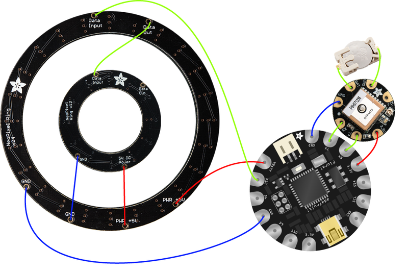 Circuit Diagram Neopixel Ring Clock Adafruit Learning System