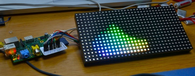Testing | Connecting a 16x32 RGB LED Matrix Panel to a Raspberry Pi
