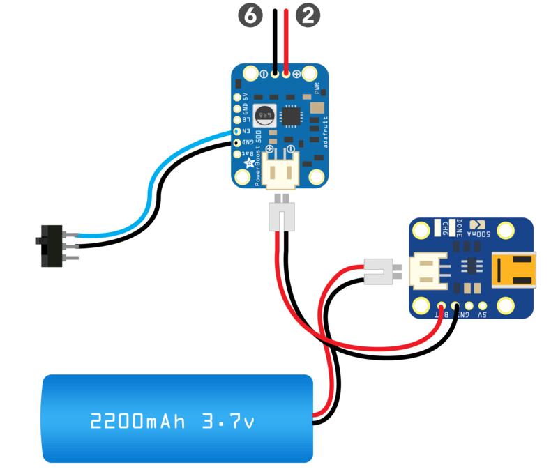 Power Circuit | PiGRRL - Raspberry Pi Gameboy | Adafruit Learning System