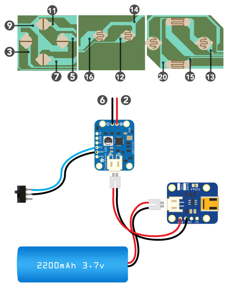 Circuit Diagram | PiGRRL - Raspberry Pi Gameboy | Adafruit ... on