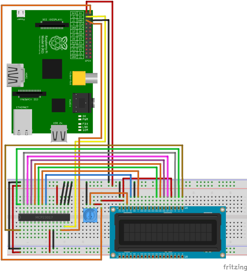 how to connect regular lcd to a raspberry pi