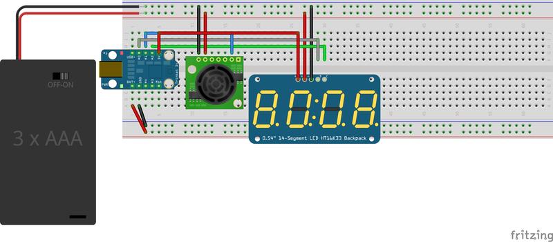 Circuit Diagram | Ultrasonic Ruler | Adafruit Learning System