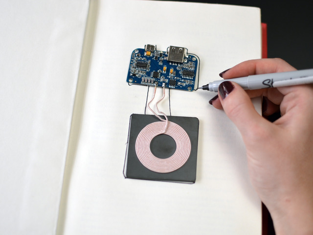 Qi Transmitter Book | Qi Charging Phone Case & Book | Adafruit