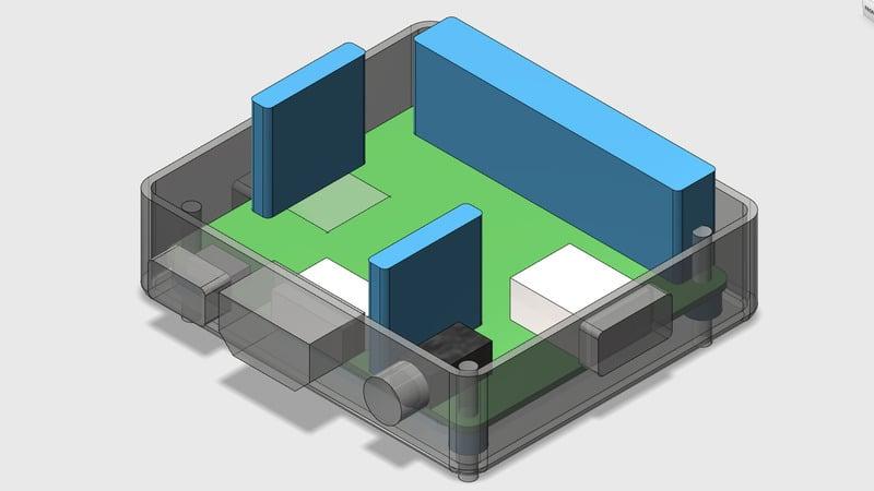 Customizing 3d printed raspberry pi a case adafruit for Raspberry pi 3 architecture