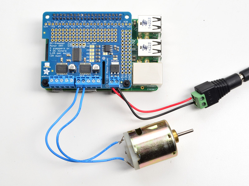 Using Dc Motors Adafruit Dc And Stepper Motor Hat For