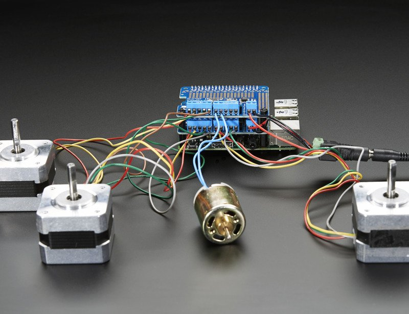 Overview | Adafruit DC and Stepper Motor HAT for Raspberry