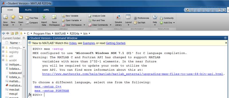 Set up compiler support | Set up and Blink - MATLAB and Simulink