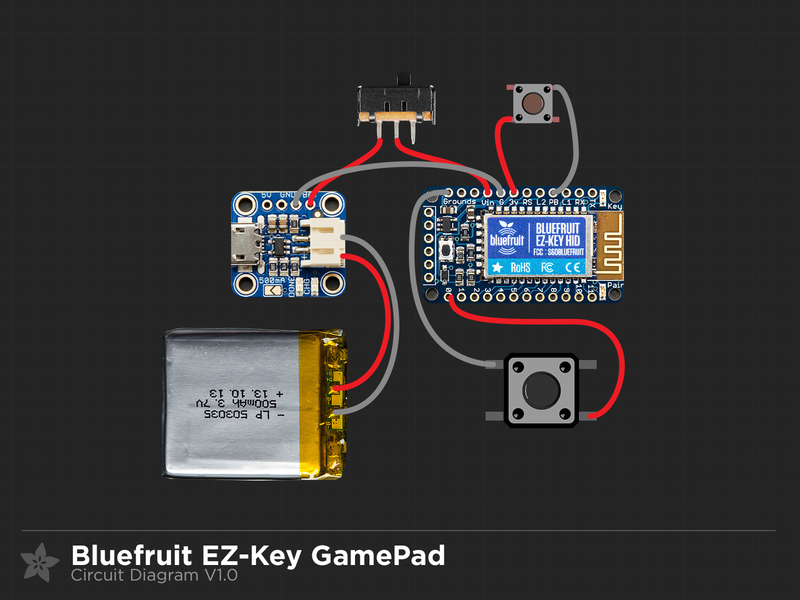 Circuit Diagram | DIY Bluetooth Gamepad | Adafruit Learning System