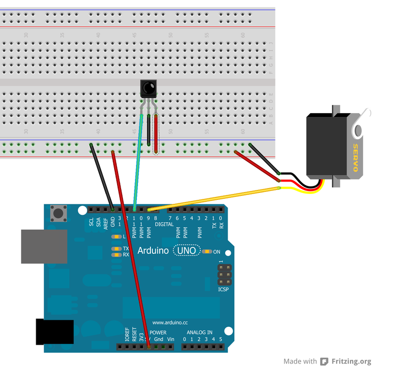 Controlling a servo with ir using an infrared library on for How to control servo motor