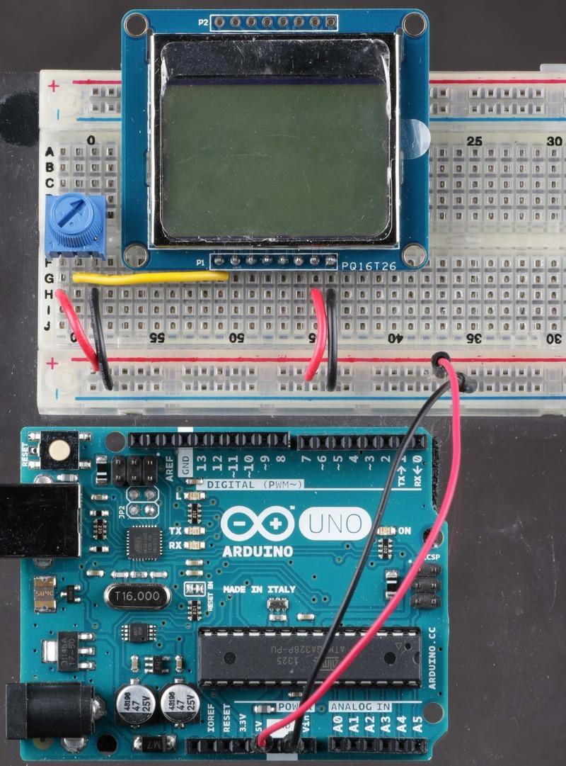 Wiring | Nokia 5110/3310 Monochrome LCD