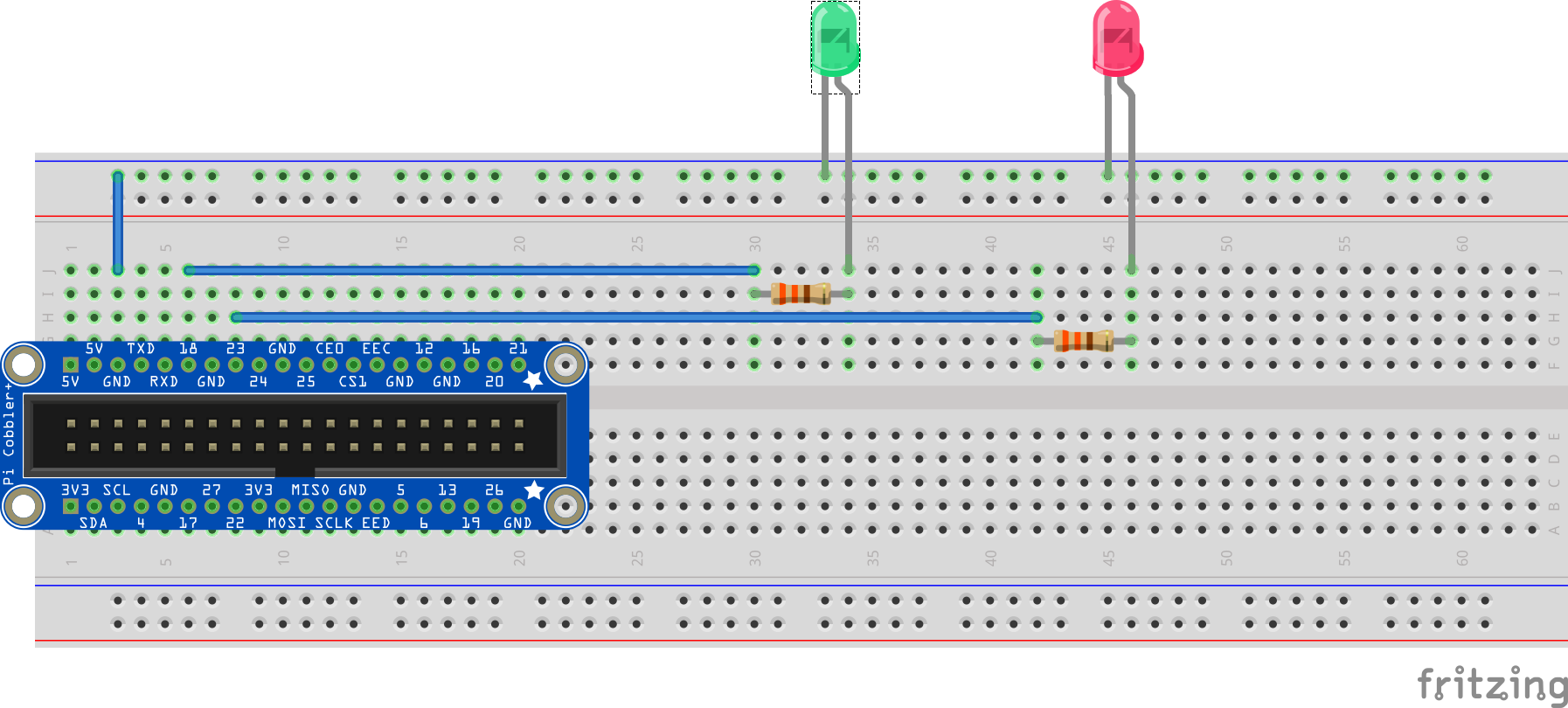Simple Led Doesnt Turn On Solved Raspberry Pi Forums Wiring A Working Breadboard From Circuit Diagram Is Easy If You