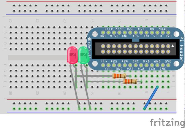 LED mit Raspberry Pi verbinden