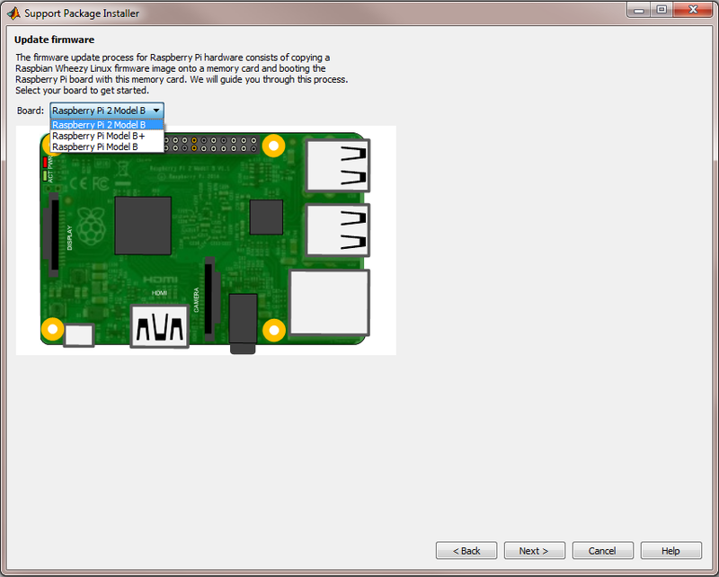 Set up MATLAB and Simulink support package for Raspberry Pi