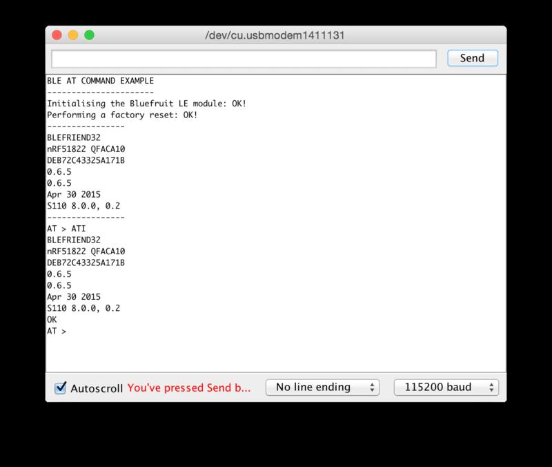 ATCommand | Introducing the Adafruit Bluefruit LE UART