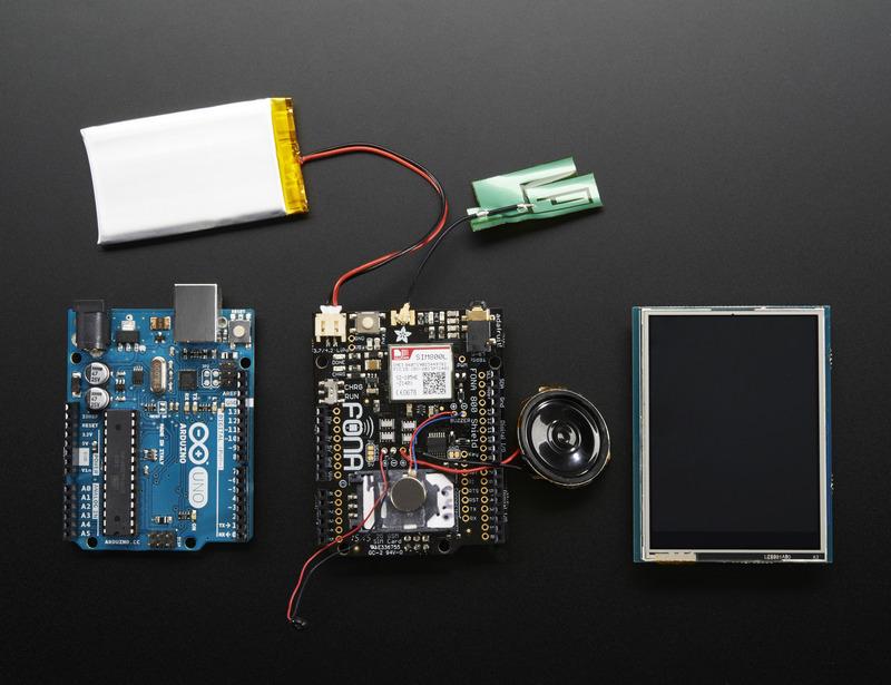 adafruit products Phone tutorial top ORIG - Construye tu propio teléfono móvil con Arduino