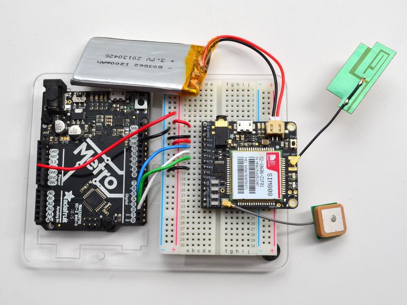 Wiring to arduino adafruit fona cellular gps