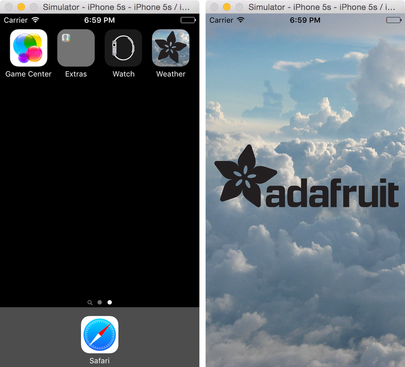 Customizing the App | iOS App Development Using Cordova | Adafruit