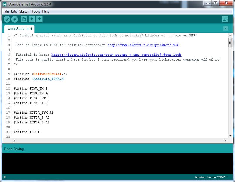 Overview | Open Sesame! A SMS-controlled door lock | Adafruit