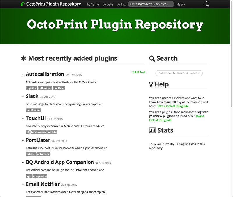 TouchUI Plugin | OctoPrint - Open Source Host Software