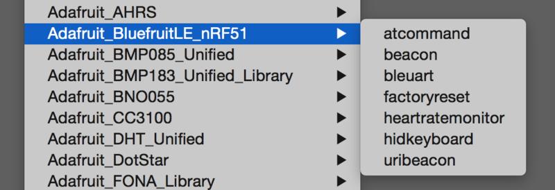 Installing BLE Library | Adafruit Feather 32u4 Bluefruit LE