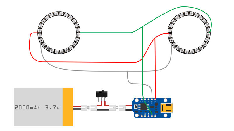 Circuit Diagram | 3D Printed Daft Punk Helmet with Bluetooth ...