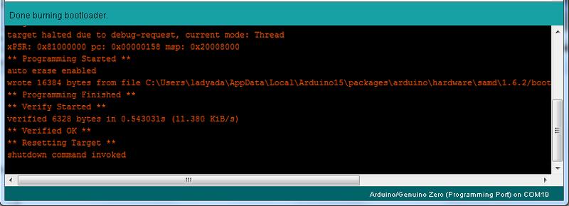 Restoring bootloader proper debugging of atsamd
