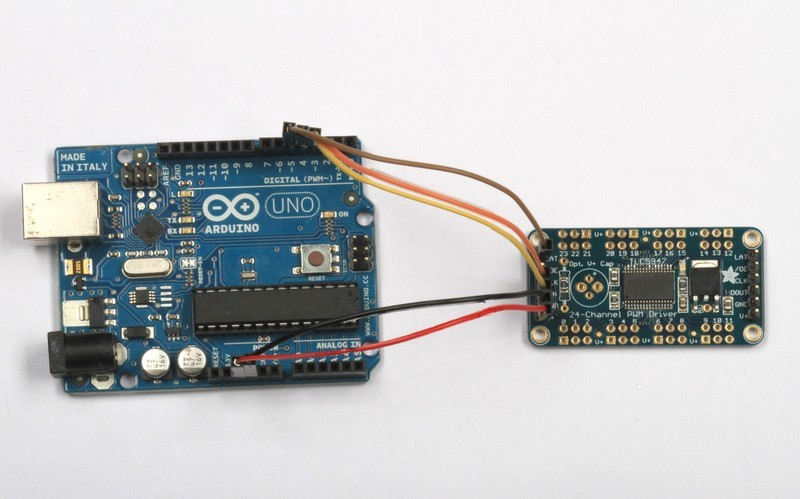 Connecting to the Arduino | TLC5947 and TLC59711 PWM LED Driver
